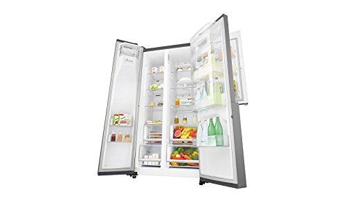 Side By Side Kühlschrank Geringe Tiefe : Lg electronics gsj pzuz side by side kühlschrank mit