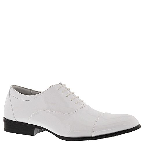 Stacy Adams Men's Gala Cap Toe Oxford 24998,White Patent PU,US 8 W