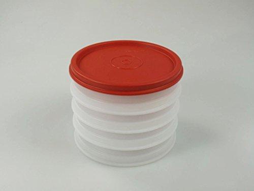 TUPPERWARE Hamburger Maker Contenitore (4) bianco rosso