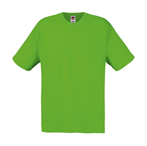 Fruit of the Loom: Original Full Cut T-Shirt 61-082-0, Größe:L;Farbe:Lime Green (Jungen-lime Green)