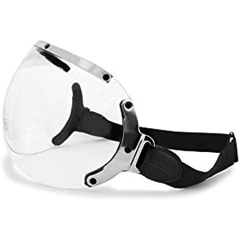 Visera para casco Jet - elastico regulable - perfil de acero cromo - by Bertoni Visor