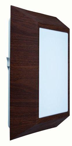 Paulmann Leuchten 70022 Ciloma - Aplique de pared (plástico y fibra acrílica, 22 W, T5, 230 V, 30 x 30 x 7,5 cm), color marrón y blanco