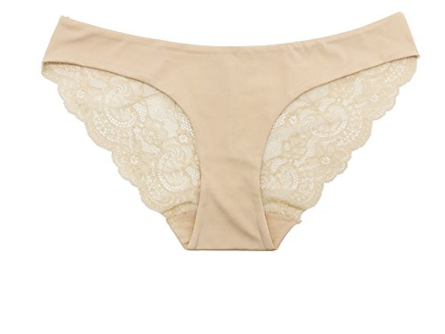 SHEKINI Donna Girl Lusso Sexy Pizzo Trasparenti Fiori Seamless Panties Slip Brief Lingerie Culotte Vita Bassa Traspirante Underwear Multipack 3 Pack E