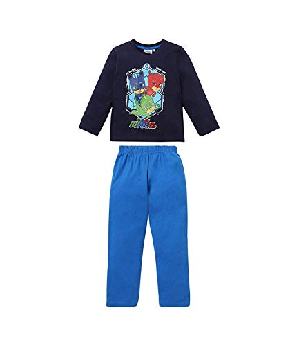 Marine-blau Pyjama (PJ Masks Jungen Pyjama 5406, Marine Blau, 128)