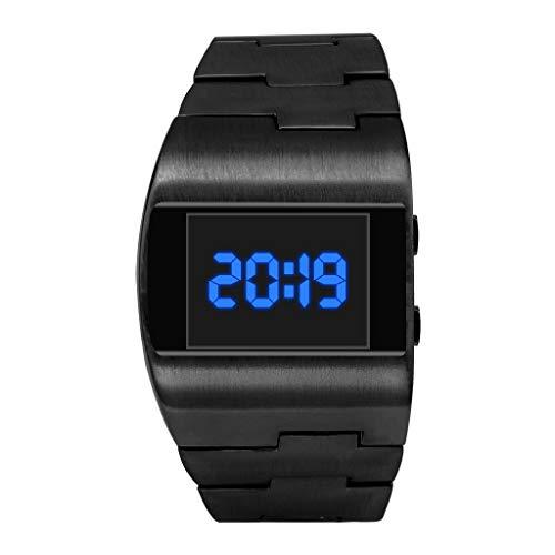 Marvvola Mode Digitale Elektronische Uhr Hohe Qualität Einfach Armbanduhren Business Elegant Classic Klassisch Armbanduhren (C)