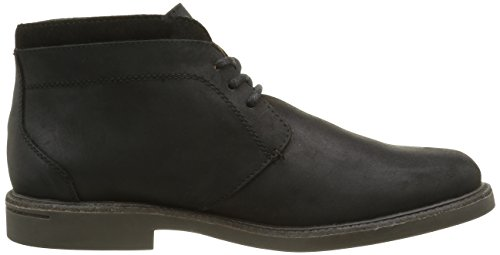 Sebago Turner Wp, Bottes Chukka Homme Noir (Black Leather WP)