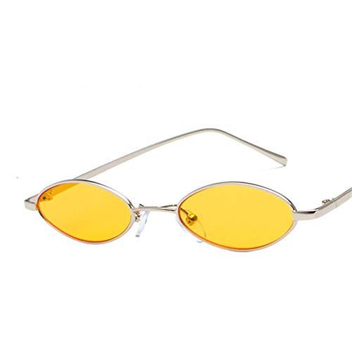 Jeewly Klassische Sportsonnenbrille, Sunglasses Women Vintage Retro Color Small Ellipse Sunglasses Designer Unisex