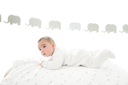 GLOOP. Set Mullwindeln 2Baumwolle Elefanten 100x 100cm