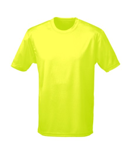 Just Cool - Performance T-Shirt, atmungsaktiv L,Electric Gelb (Cool-shop Zu)