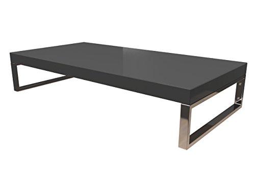 KeraBad Waschtischplatte Waschtischkonsole für Aufsatzwaschbecken und Waschschalen Holzplatte Badmöbel Tischplatte 110x50x5cm Anthrazit Hochglanz kb-wt50120anth-7