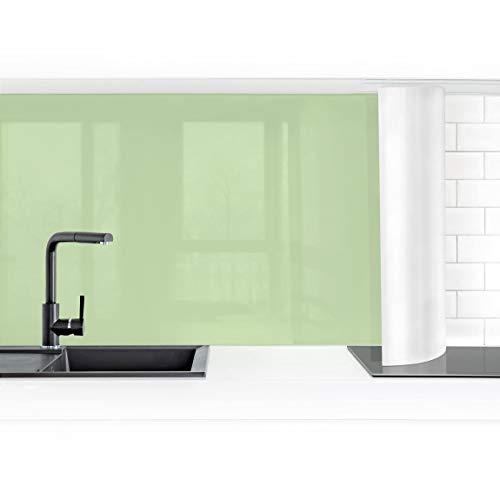 Bilderwelten Küchenrückwand Folie selbstklebend wasserfest Mint 100 x 350 cm Premium