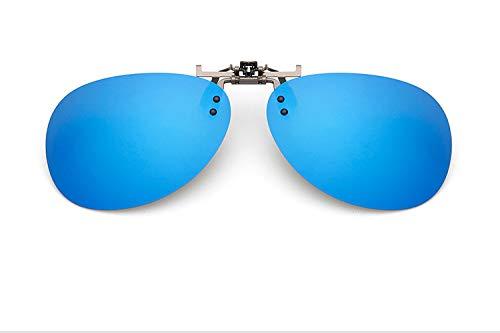 LIUYIAO Sonnenbrillen Outdoor UV polarisierte Linsen Brille Clip Sonnenbrille Männer und Frauen Fahren Myopie Sonnenbrille Retro Sonnenbrille,Blue