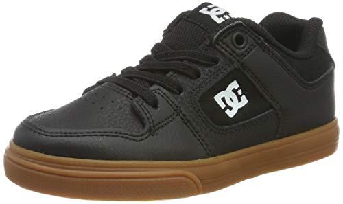 DC Shoes Pure Elastic, Scarpe da Skateboard Bambino, Nero (Black/White/Gum Bw6), 37 EU