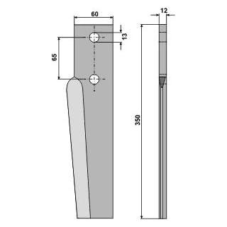 RH 93 DER - Kreiseleggenzinken, Ausführung rechts