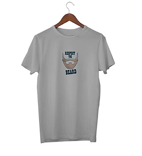 KLIMASALES Respect The Beard Western Cow Boy Style_KK020710 Shirt T-Shirt Tshirt para Hombres For Men Gift For Him Present Birthday Christmas - Men's - Medium - Grey