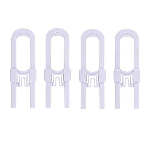 Axibi 4er Pack Schiebetürschlösser - Babyproofing-Schränke mit verstellbarer Kindersicherung - Kindersicherungsverschlüsse für Knöpfe, Griffe an Küchentüren, Ablagetür, Schrank, Schrank, Kommode (Kommode Knöpfe Für Baby)