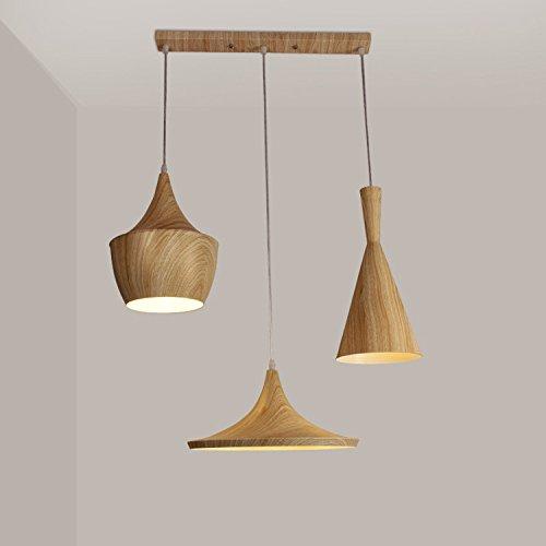 DZXYA  Il legno di colore grano strumenti musicali lampadari camera da letto studio bar-caffetteria lampadario di legno