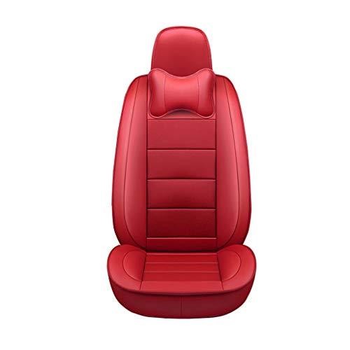 Autositzbezug Autositzbezug All-Inclusive-Kuhfell-Sitzbezug für die Serie Autositzbezug Four Seasons Universal Sitzbezug Sitzkissen Leder-Sitzbezug (Farbe : Red)