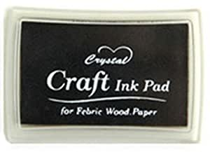 Black Ink Pad For Rubber Stamps/Craft/Paper/Wood