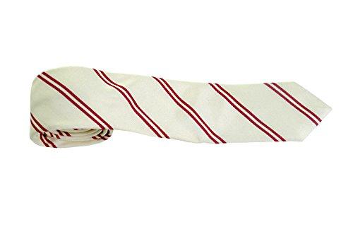 Hugo Boss Herren Krawatte weiß Blanc Rouge onesize