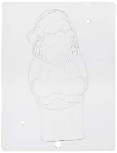 Paderno World Cuisine Single (Paderno World Cuisine Single Imprint Polypropylene 8.125 Inch Traditional Santa Claus Chocolate Mold (Front And Back))