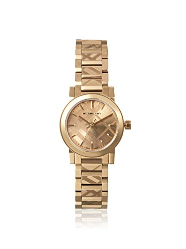 Burberry Unisex Swiss The City Light Gold-Tone Stainless Steel Bracelet Watch 26mm BU9227