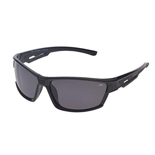 Vast Polarized Sports Unisex Sunglasses (PoloBPS_15012_BlackTips 60 Grey Lens)...