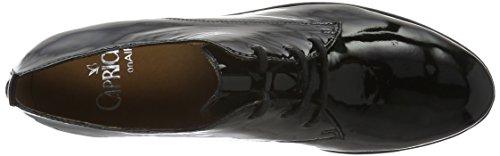 Caprice 23351, Derby Femme Noir (Black Patent 018)