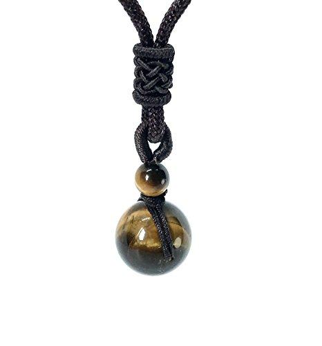 GOOD.designs Halskette mit echter Naturstein - Tigerperle, Energiehalskette mit Verstellbarer Nylonschnur aus hochwertigen Edelstein Tigerauge für...