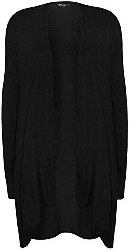 Mode 4moins NEUF pour femme Taille plus manches longues Cardigan. UK 16–26 Noir
