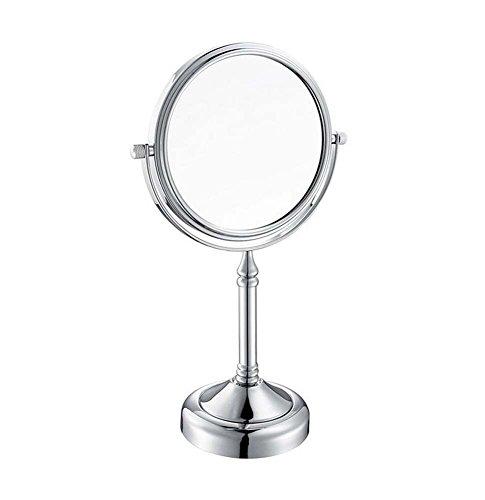 JH 6/8-Zoll-doppelseitiger Schminkspiegel-Sockel-Tisch-Spiegel 3X / 1x Vergrößerung 360 Grad drehen tragbaren Kosmetikspiegel Rasierspiegel Badezimmerspiegel für Bad, (Color : 6 INCH) -