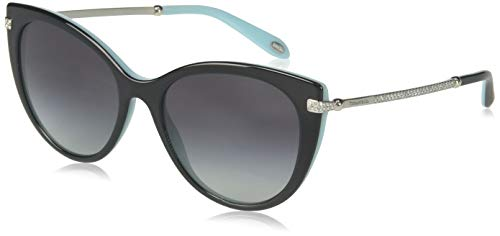 Tiffany & co. 0ty4143b 80553c 55 occhiali da sole, nero (black/blue/graygradient), donna