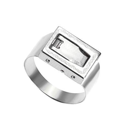 TIREOW 2019 Mode Elegant Selbstverteidigung Ring Multifunktionale Mini Finger Schmuck für Frauen Mädchen (Silber)