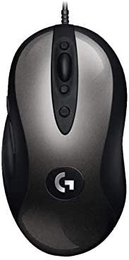 Logitech G MX518 mysz gamingowa z czujnikiem HERO 25K DPI, procesor ARM, 8 programowalnych przycisków, złącze