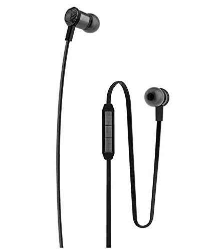 ESTAR Lava Iris Fuel 60 Compatible In The ear Headphone With Mic And 3.5mm Jack - BLACK  available at amazon for Rs.399