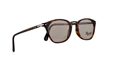Persol PO3209V Brillen 52-21-145 Havana Mit Demonstrationsgläsern 24 PO 3209V PO 3209-V PO3209-V