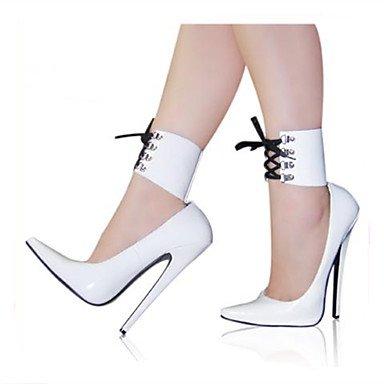 Moda Donna Sandali Sexy Donna Stivali 18cm Altezza tacco Sexy punta appuntita Stiletto Heel parte Bootie stivali Blue