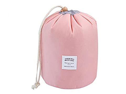 Hippolo Wasserdichte Make-up-Tasche Reise-Kit Organizer Badezimmer-Aufbewahrung Kosmetiktasche Tragetasche Kulturbeutel (Rosa)
