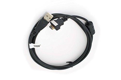 vhbw USB Datenkabel Daten Kabel passend für CASIO Exilim EX-S500 / EX-S600 / EX-S600D etc. ersetzt U-9 - Ex-kabel