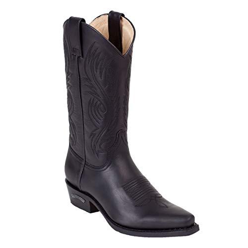 Sendra Cowboystiefel 2605 in schwarz incl. Roy Dunn´s Lederfett (42)