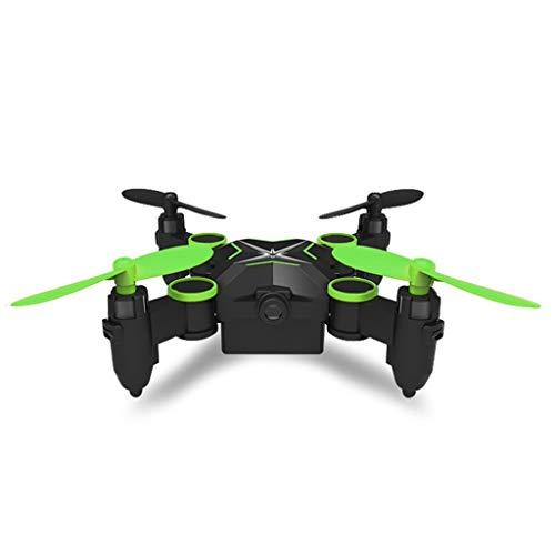 GHMOZ Mini-Luftaufnahmen Spielzeug Anfänger Drohne Fernbedienung Flugzeuge Zusammenklappbare Vier-Achsen-Flugzeuge Luftaufnahmen (Color : Green)