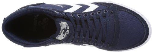 Hummel - Hummel Slimmer Stadil High, Scarpe da Ginnastica Alte Unisex – Adulto Blu (Dress Blue/white Kh)