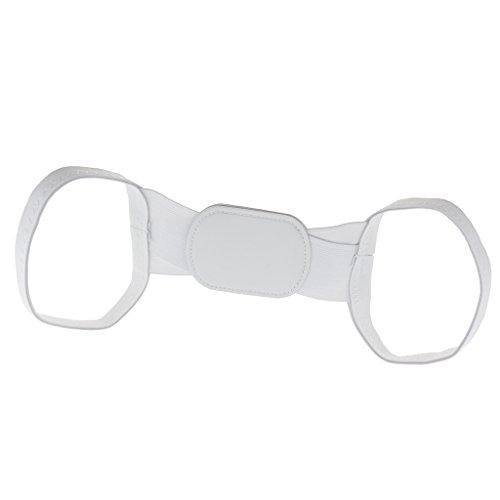 Sharplace Erwachsene Geradehalter Schulterbandage (Weiß) Für Körperhaltung Korrektor, Haltungskorrektur Bandage