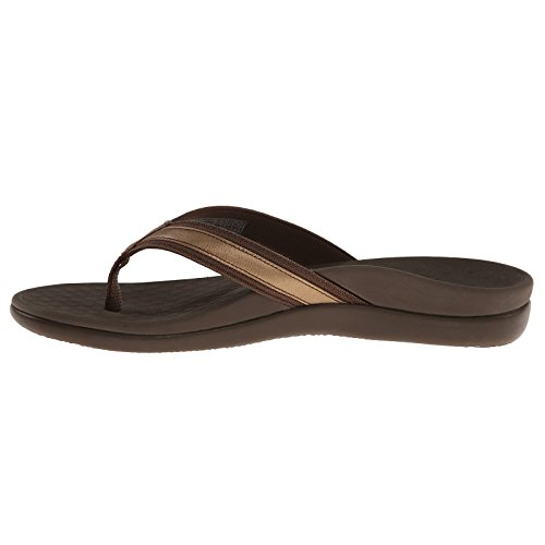 Vionic Womens Islander Tide II Leather Sandals Bronze Metallic