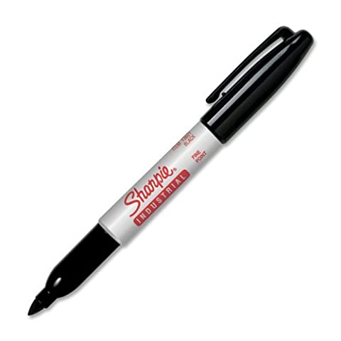 Sharpie 13601 Industrial Fine Point Permanent Marker, Black, 12 count, (Case of 12 Packs)