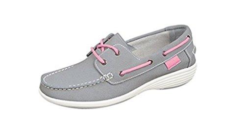 Boulevard , Chaussures bateau pour femme Gris