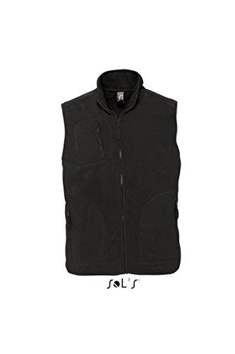 Sols - Norway - Unisex Fleece Weste , Black , 4XL
