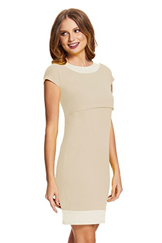 *Amyline – Stillkleid Milena nature/offwhite Gr. M*