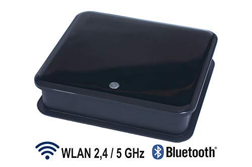 LinTech AirLino® max HiFi Multiroom Audio Empfänger/ Receiver für kabelloses Audio Streaming via Bluetooth aptX und 2.4+5 GHz WLAN (AirPlay, DLNA, UPnP, WiFi, Internetradio, NAS-Tidal-Spotify-Qubuz)