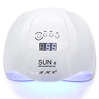 LED Fast Nail Dryer Lamp UV Curing for All Gel Nails Toe Nail Auto Sensor Upgraded with 4 Timer 10s/30s/60s/99s Setting